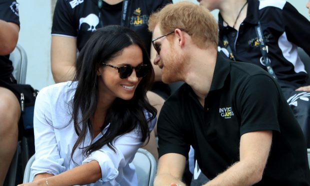 Prince Harry with girlfriend Meghan Markle at the Invictus Games in Toronto (Danny Lawson/PA)