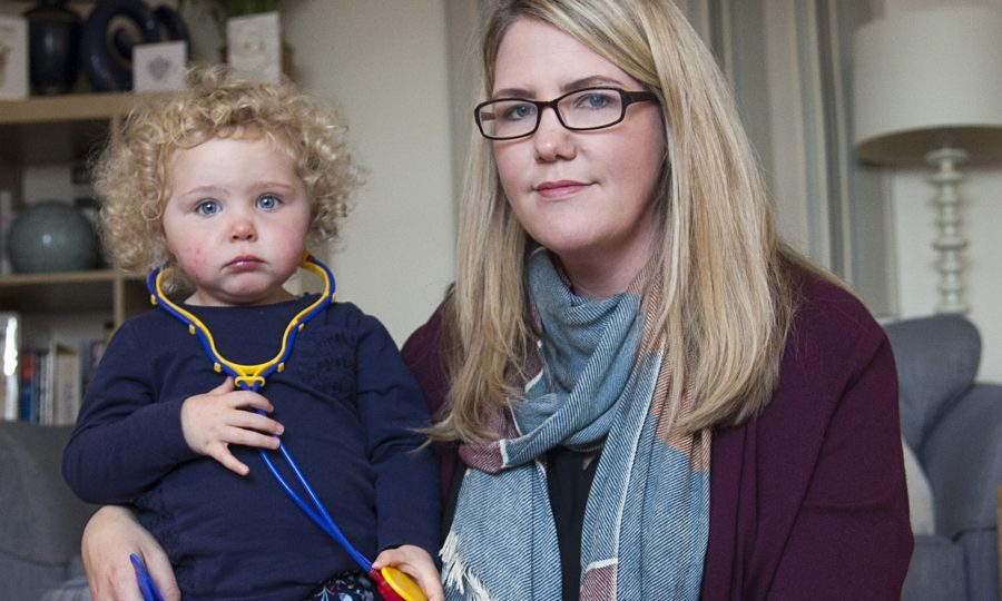 Sarah Hendry with 2 year old daughter Emma