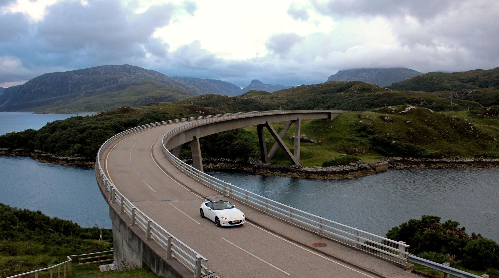 A car crosses the Kylesku Bridge, in Sutherland, part of the North Coast 500 where heavier traffic has been blamed for more fatal crashes (iStock)