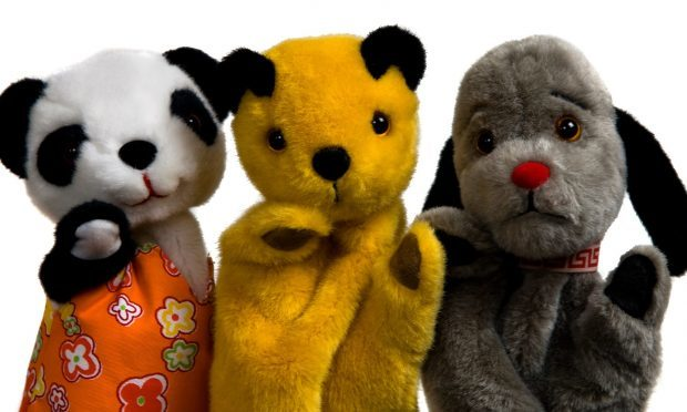 Mischievous old friends Sooty, Sweep and Soo