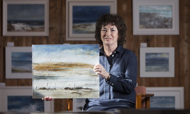 Artist Frances Innes from Peterhead (Ross Johnston/Newsline Media)