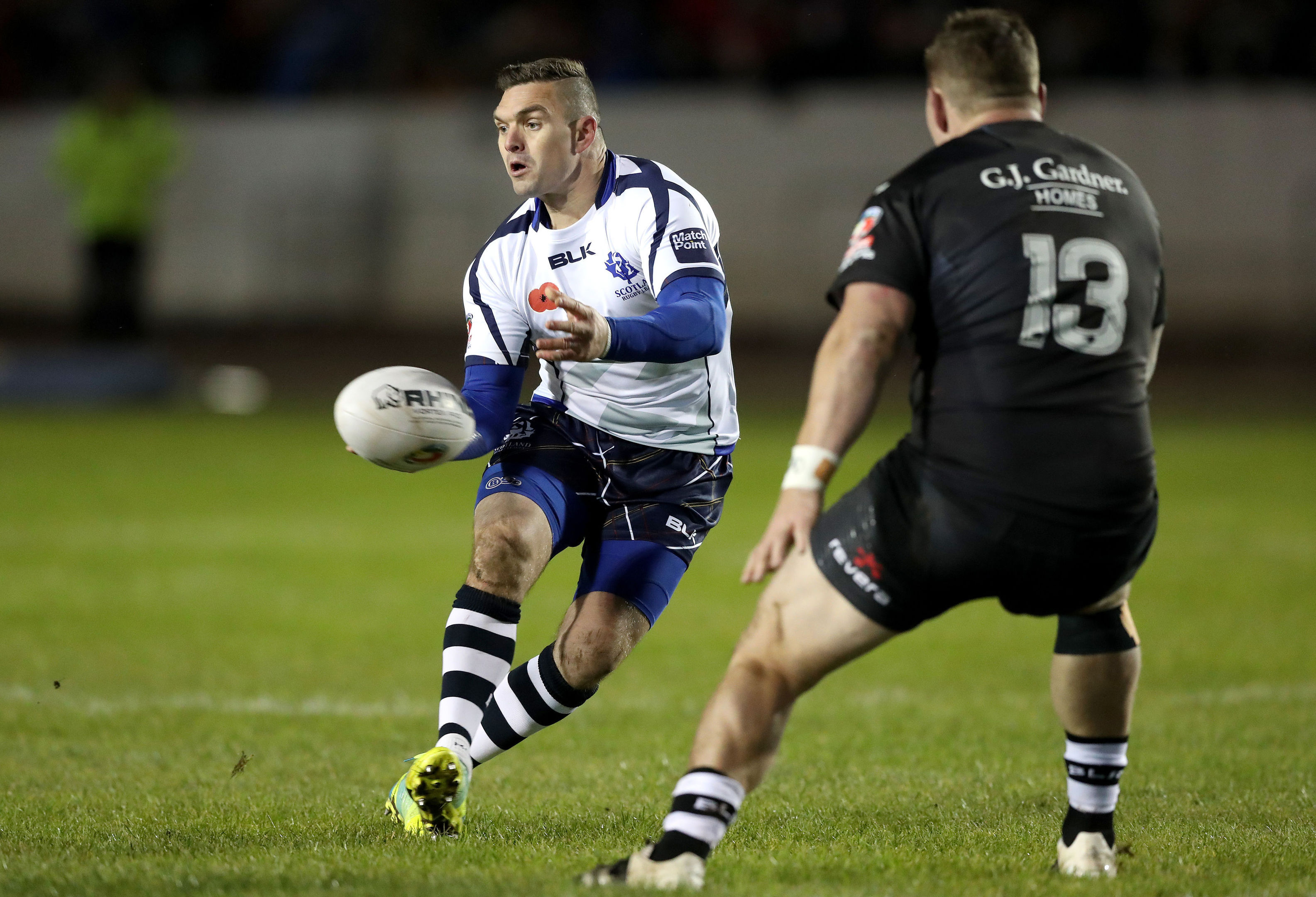 Scotland's Danny Brough in action (Martin Rickett/PA Wire)