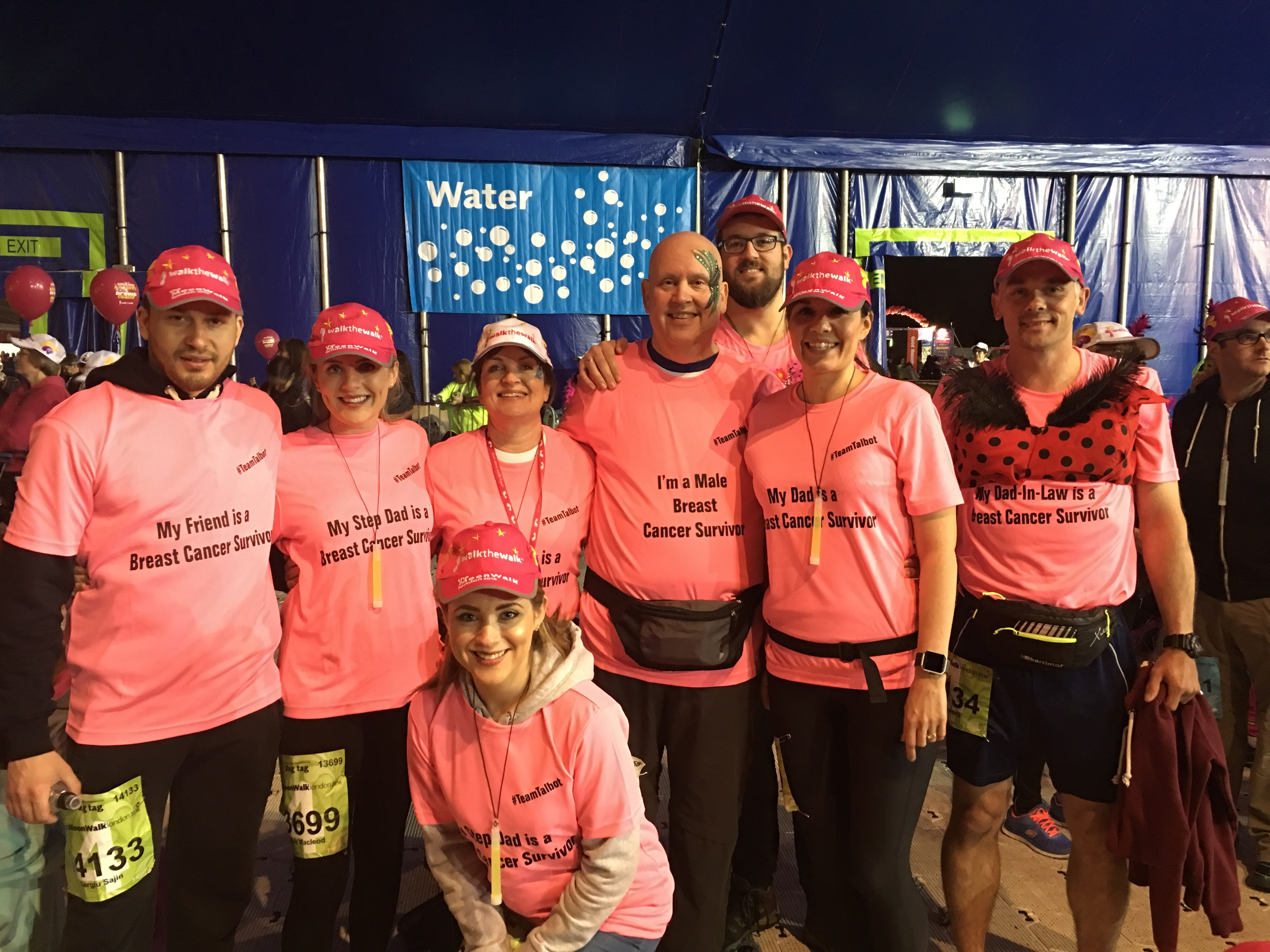 Dave was supported on the MoonWalk by family and friends