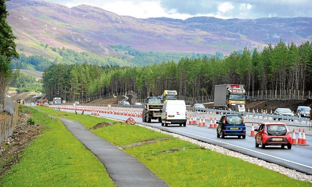 Newly constructed dual carraigeway between Kincraig and Dalraddy in Speyside (Sandy McCook)