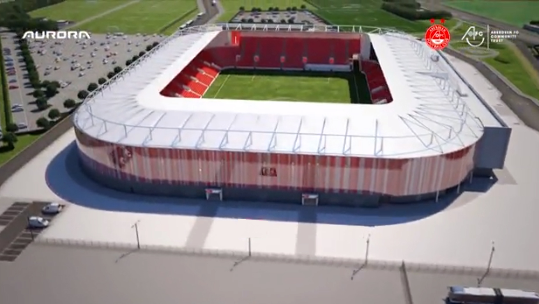 An artist's impression of the new Dons stadium at Kingsford.