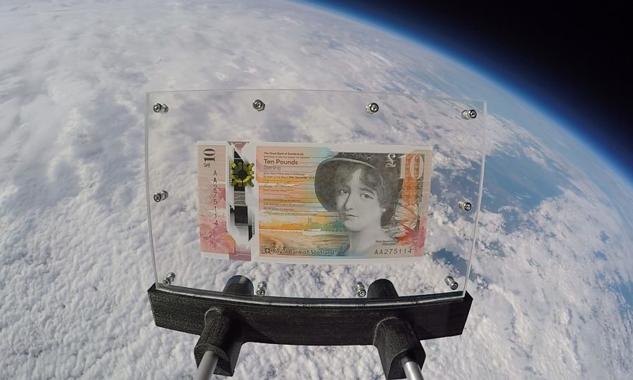 Bank's first plastic note sent to edge of space by Perthshire pupils