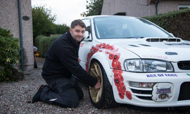 Kenny Watson who has used restoring a racing car to combat PTSD (Tina Norris)