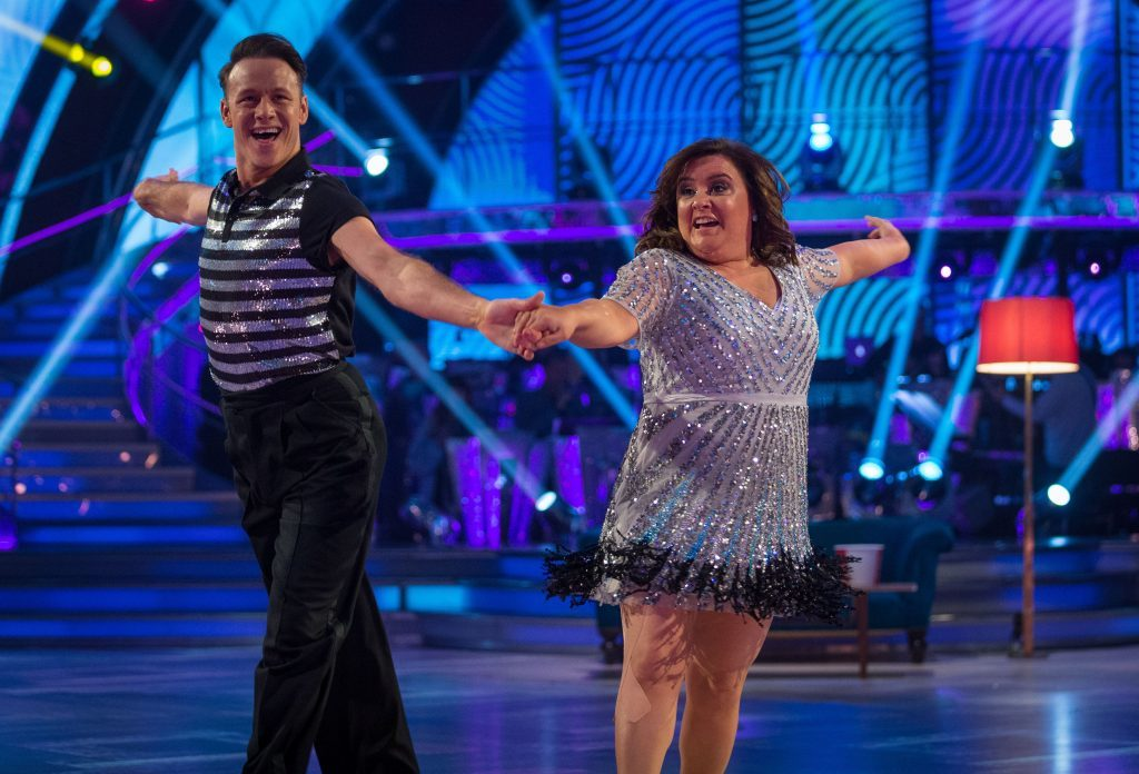 Susan Calman and her dance partner Kevin Clifton take to the floor (Guy Levy/BBC/PA Wire)