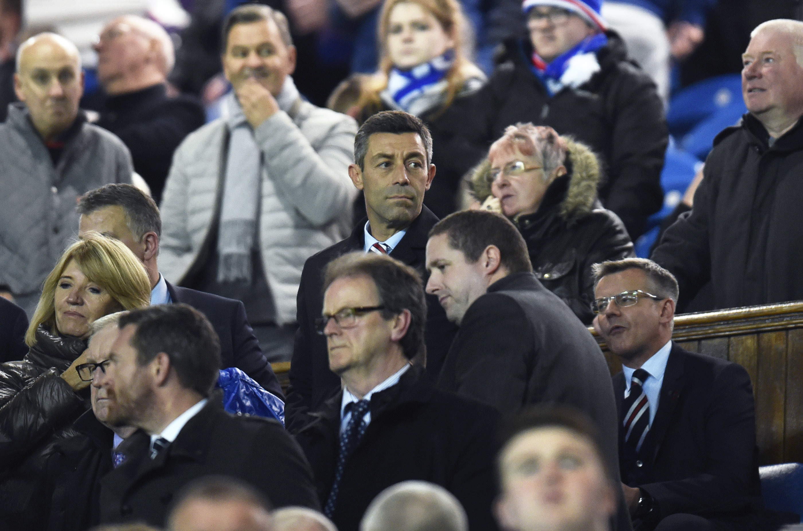 Rangers manager Pedro Caixinha in the stands (SNS Group / Rob Casey)