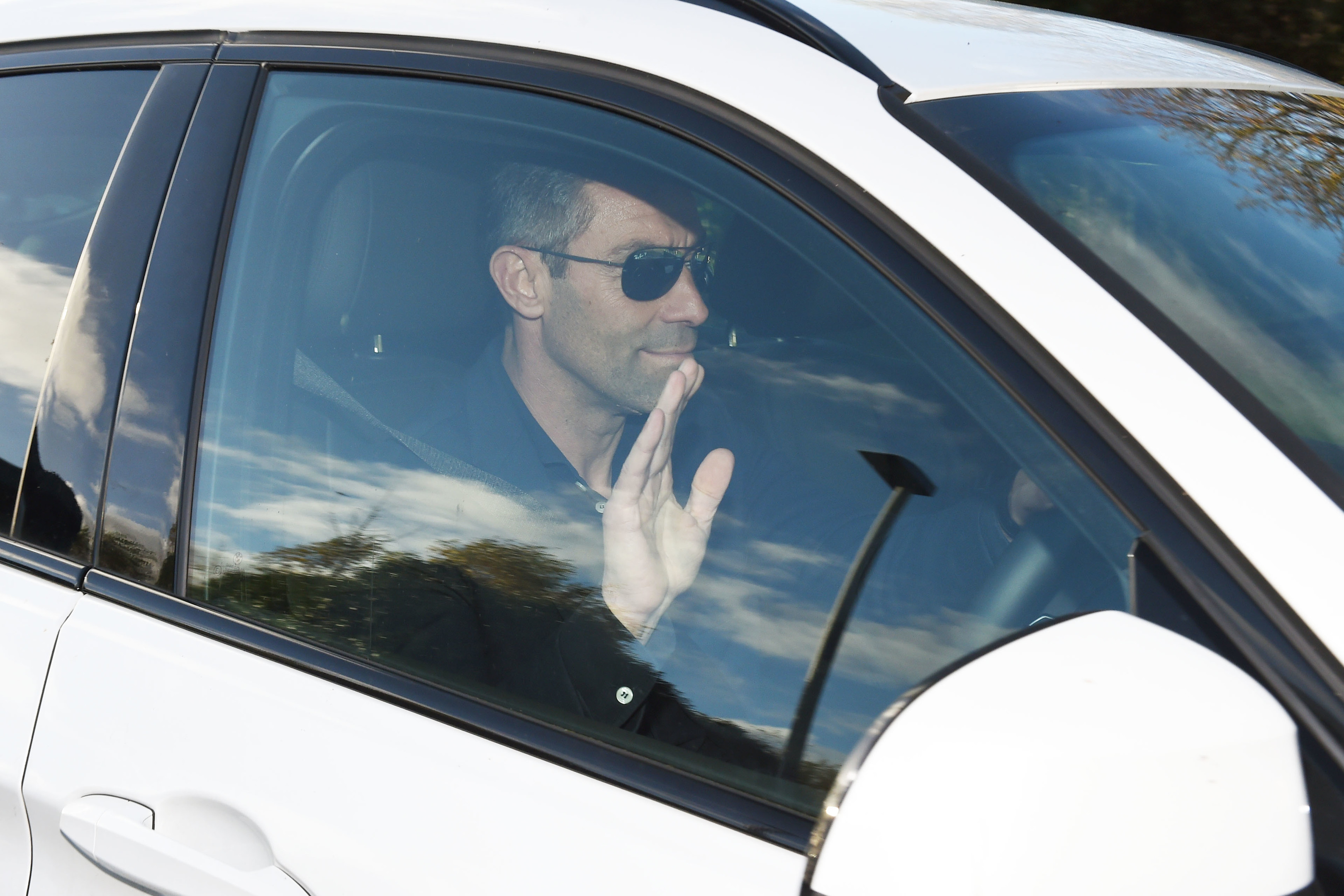 Rangers manager Pedro Caixinha leaves The Rangers Training Centre (SNS Group / Paul Devlin)