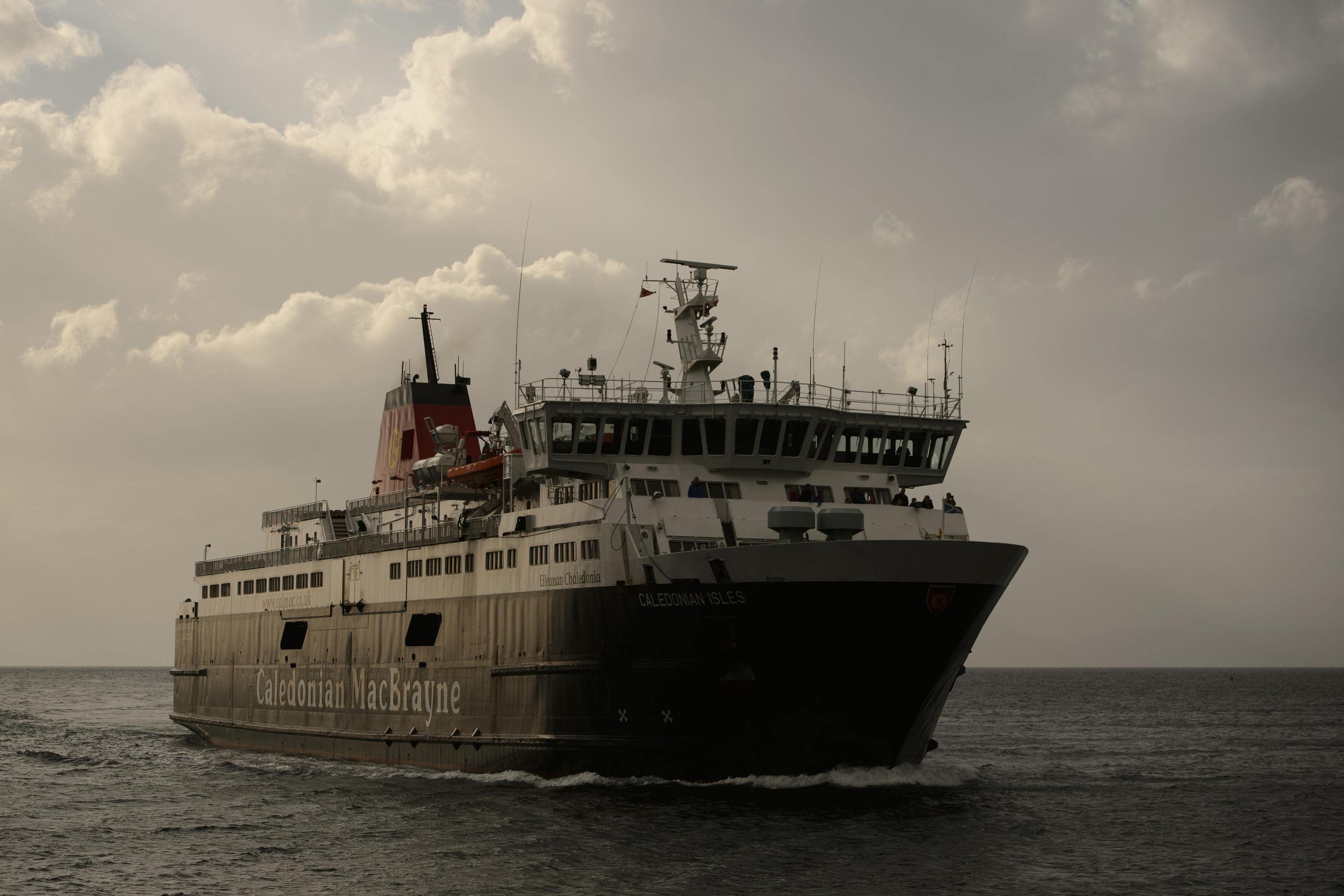 The MV Caledonia Isles heading towards Ardrossan (John Linton/PA Wire)