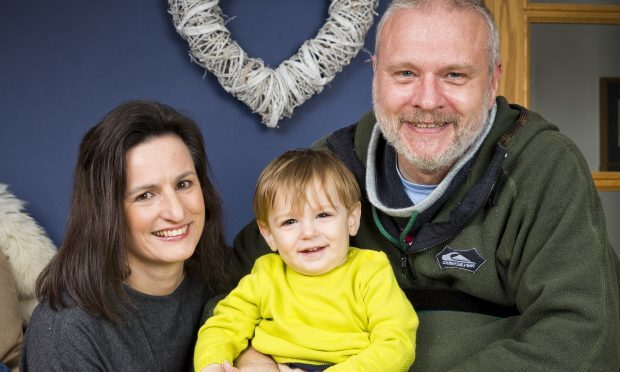 Rebekah and Glenn Bilbrough with son Erik 18months (Jamie Williamson)