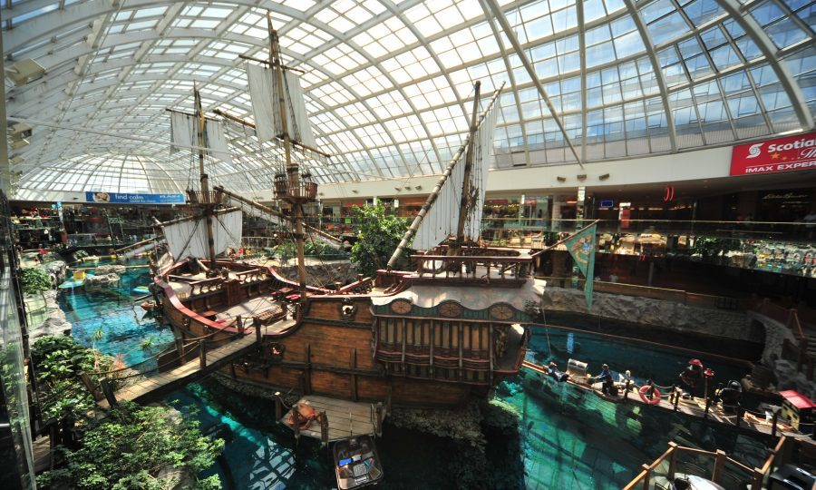 Shop ahoy! The West Edmonton Mall has a full-size replica of the Santa Maria, Christopher Columbus' flagship for his first voyage across the Atlantic in 1492.