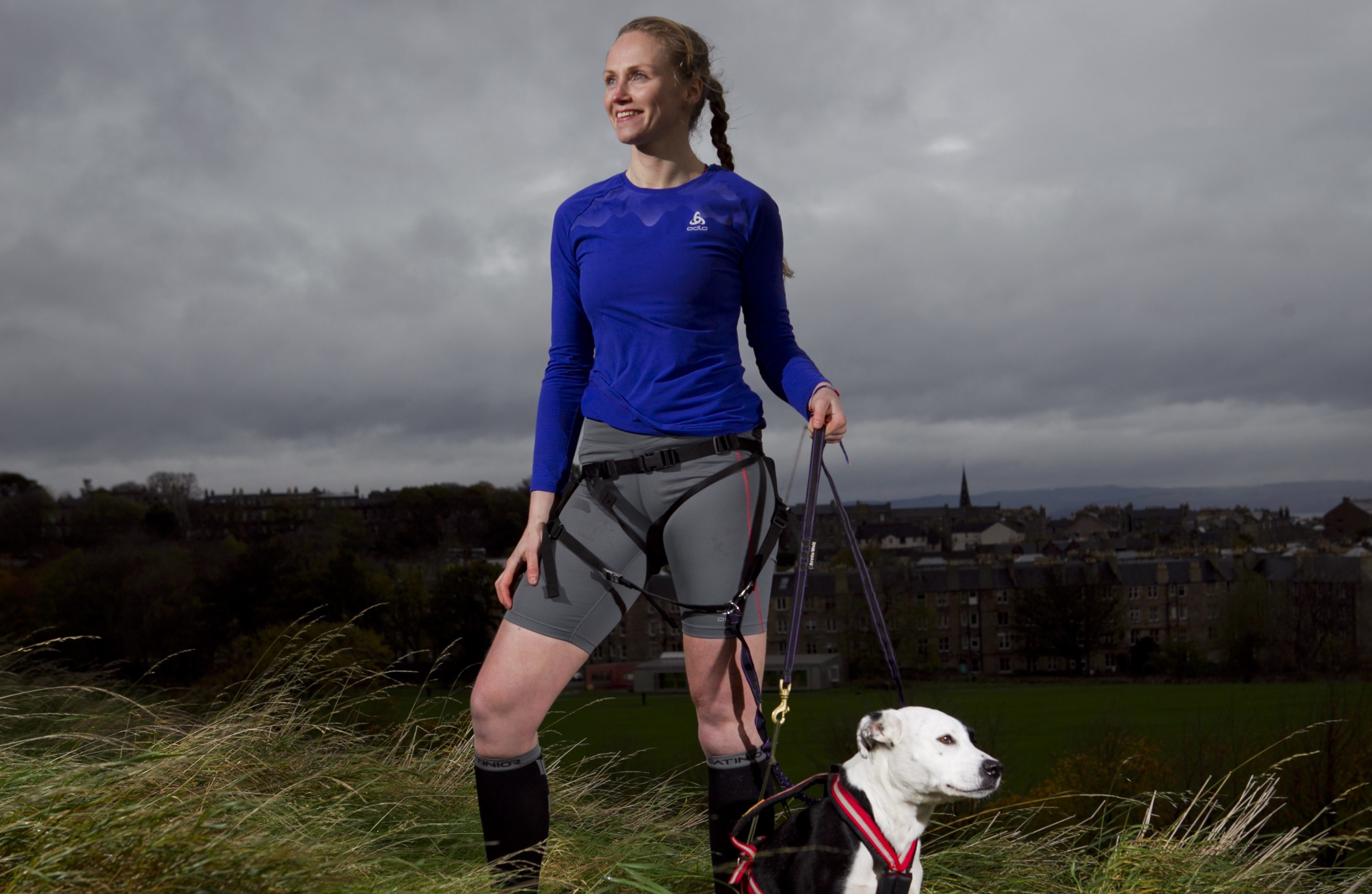 Agata Zaremba, and her dog, Roger, who compete in CaniCross - crossing country running with dogs (Andrew Cawley / DC Thomson)