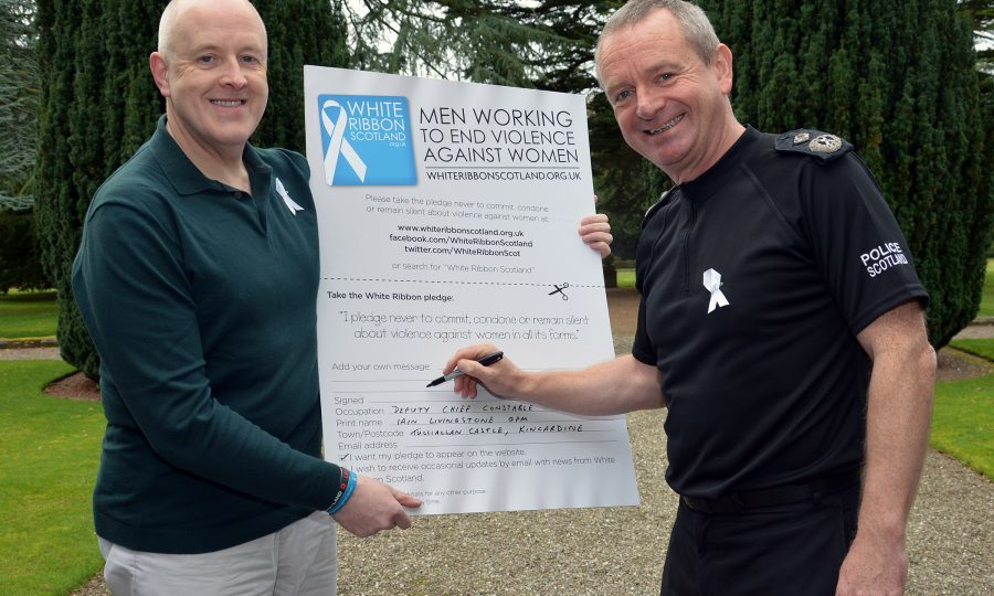 Police and Army join forces for White Ribbon