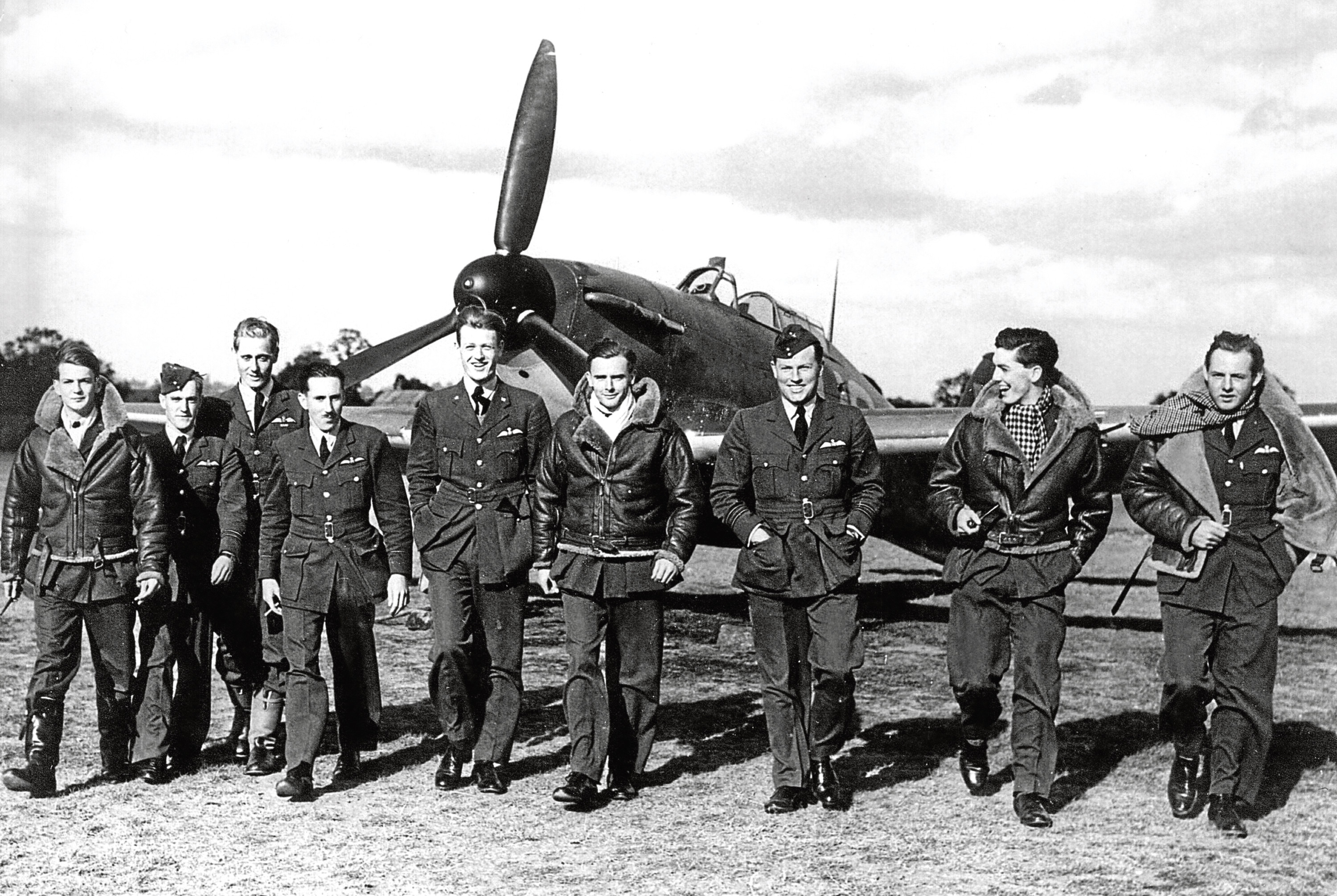 The RAF's No. 249 fighter squadron  at North Weald Airfield, Essex, in September 1940