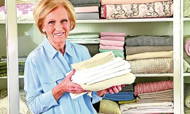 Mary Berry featured in Mary's Household Tips & Tricks published by Michael Joseph (Georgia Glynn Smith/Michael Joseph/PA Photo)