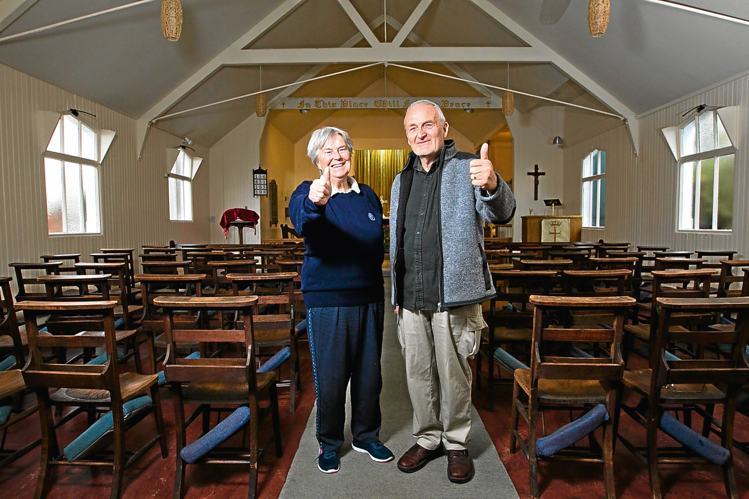 David Stacey, treasurer, and Sheila Barclay, Church warden (Andrew Cawley / DC Thomson)