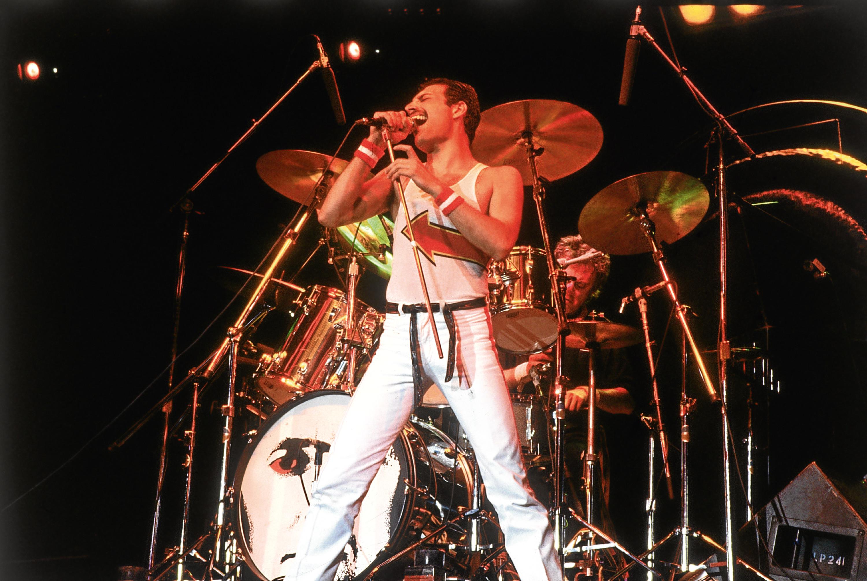 Freddie Mercury on stage in 1982 (Hulton Archive/Getty Images)