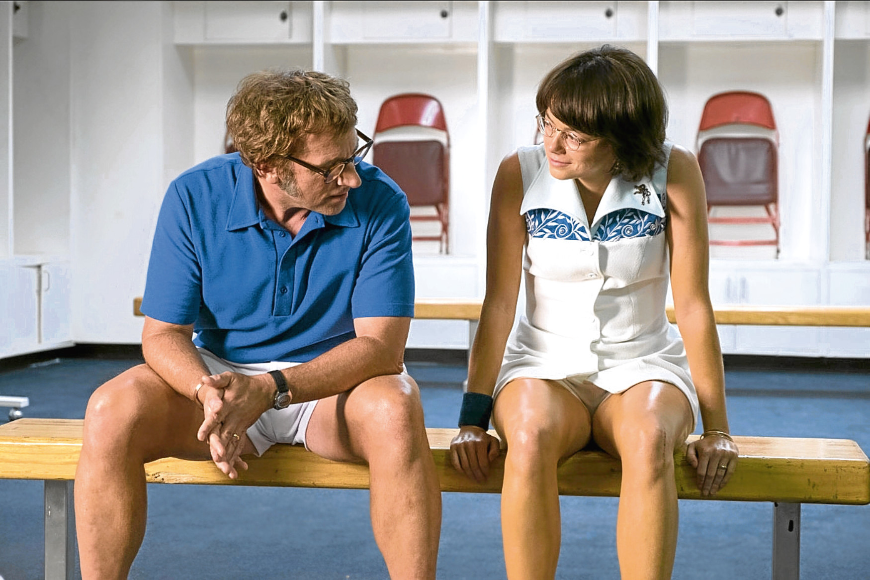 Steve Carell and Emma Stone in Battle of the Sexes (Allstar/FOX SEARCHLIGHT PICTURES )