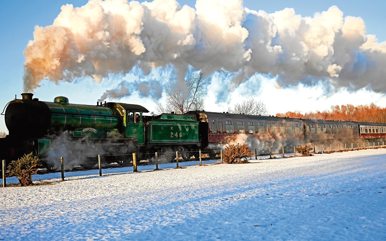 Santa special steam Train, Bo'ness, West Lothian, Scotland UK, Europe
