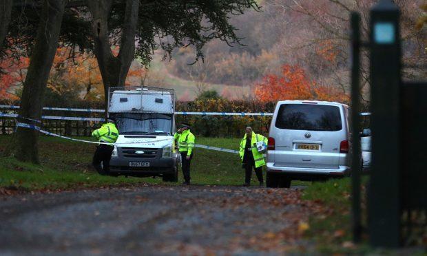Police at the scene near Waddesdon, in Buckinghamshire (Aaron Chown/PA Wire)