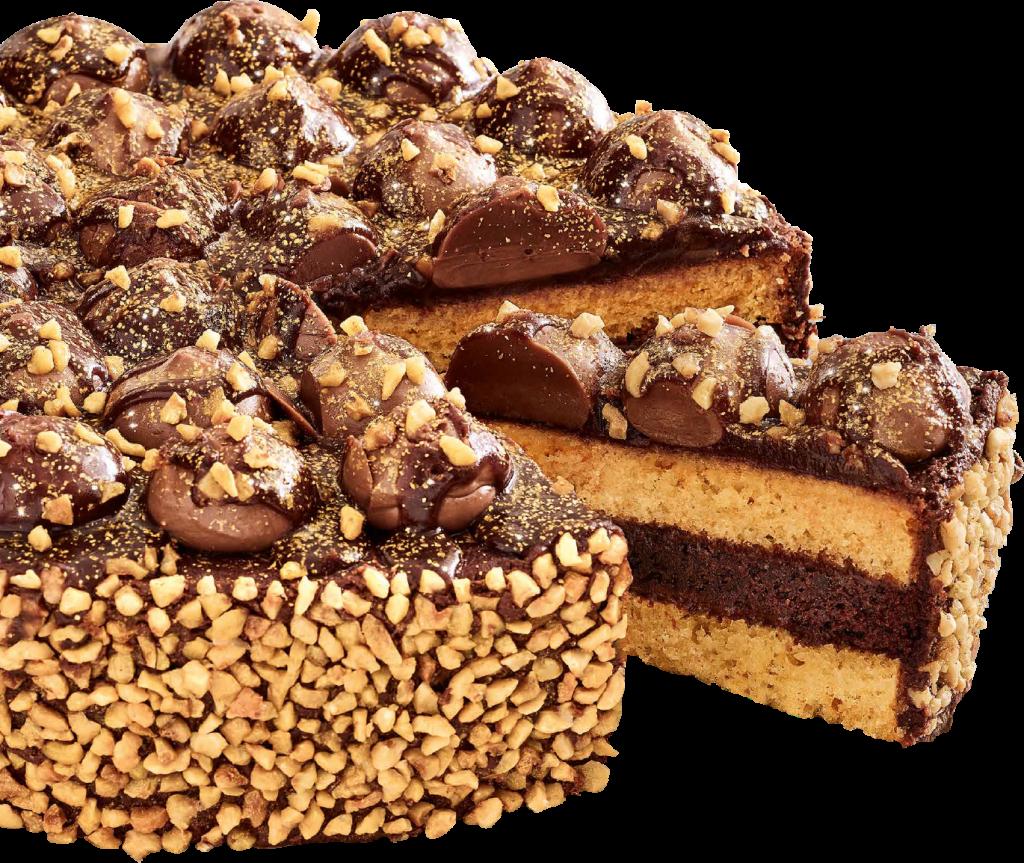 Chocolate Hazelnut Shimmer Cake