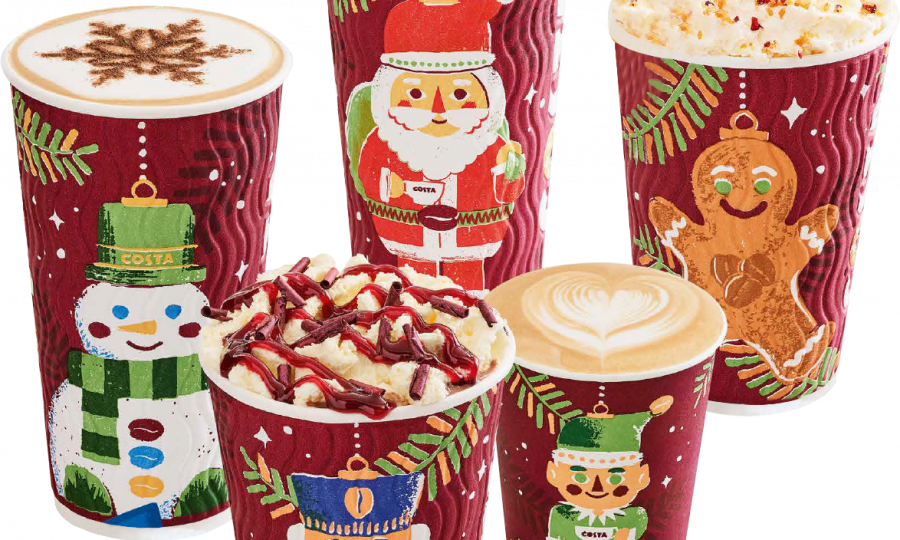Costa Christmas takeaway cups (Costa)
