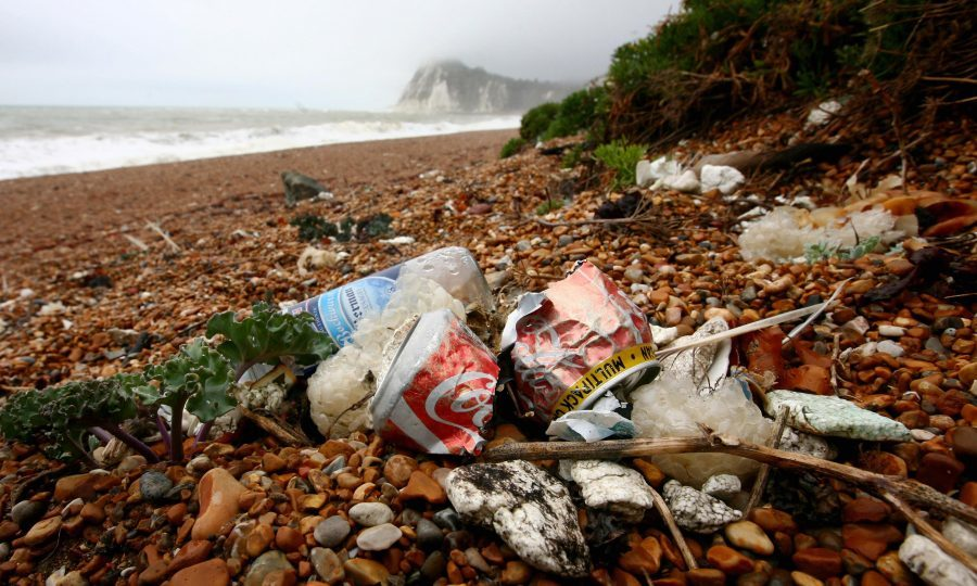 On average, 138 pieces of food and drink waste were found for every 100 metres of beach, with items picked up in the Marine Conservation Society's Great British Beach Clean ranging from plastic cutlery and straws to sandwich packaging and lolly sticks. (Gareth Fuller/PA Wire)