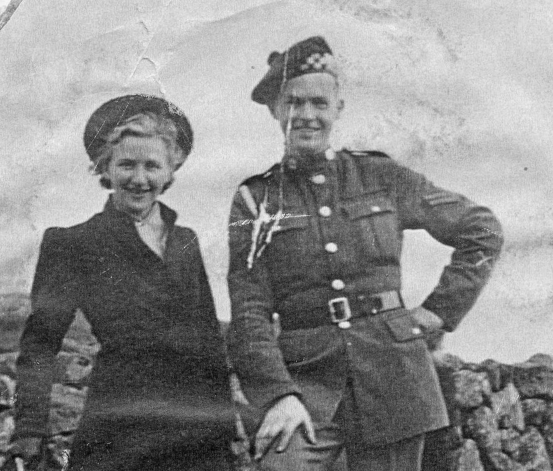 Elly and Donald, together on the Faroe Islands where they fell in love during the war