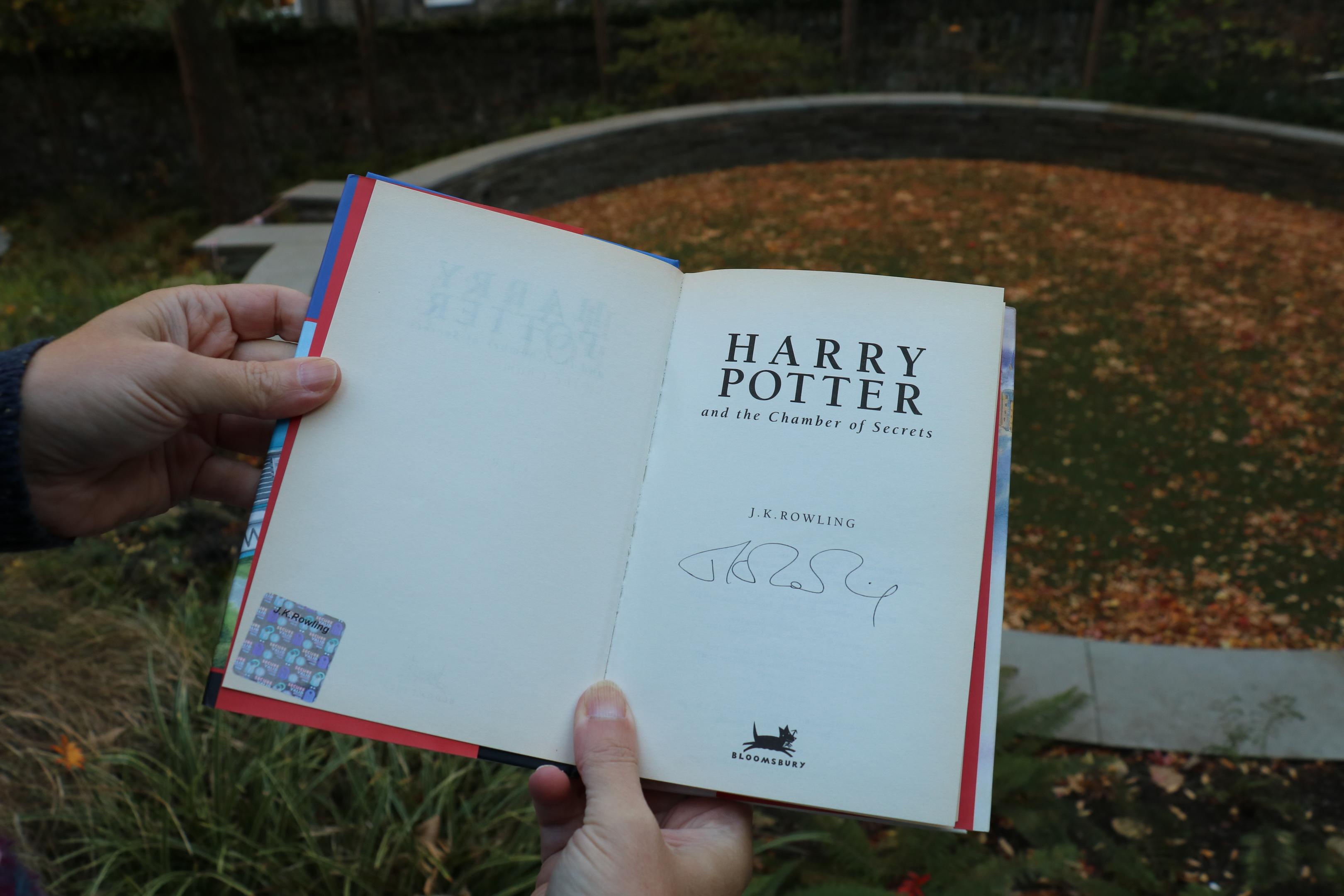 Signed Harry Potter book (Book Week Scotland)