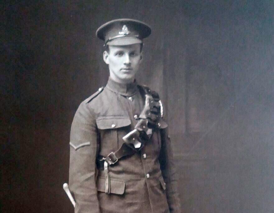 J Blackstock, Royal Field Artillery. He was killed in action 1917