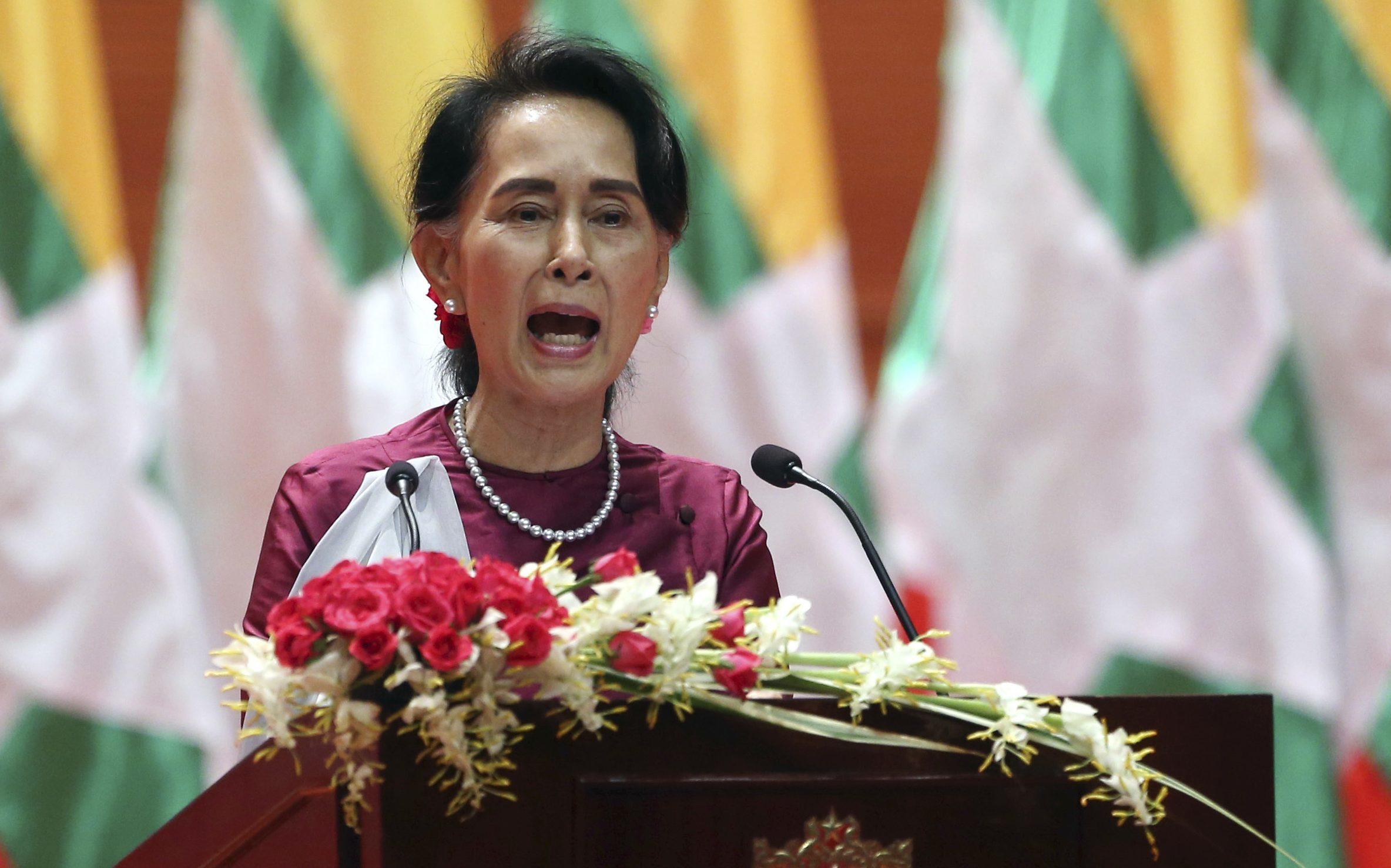 Myanmar's State Counsellor Aung San Suu Kyi (AP Photo/Aung Shine Oo)