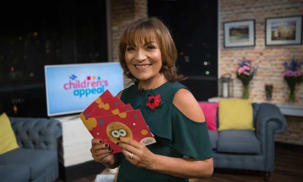 Lorraine Kelly, a trustee of the STV Children's Appeal during the live show, as a fundraising drive has raised more than £2.6 million for children and young people in Scotland. (Graeme Hunter/STV/PA Wire)