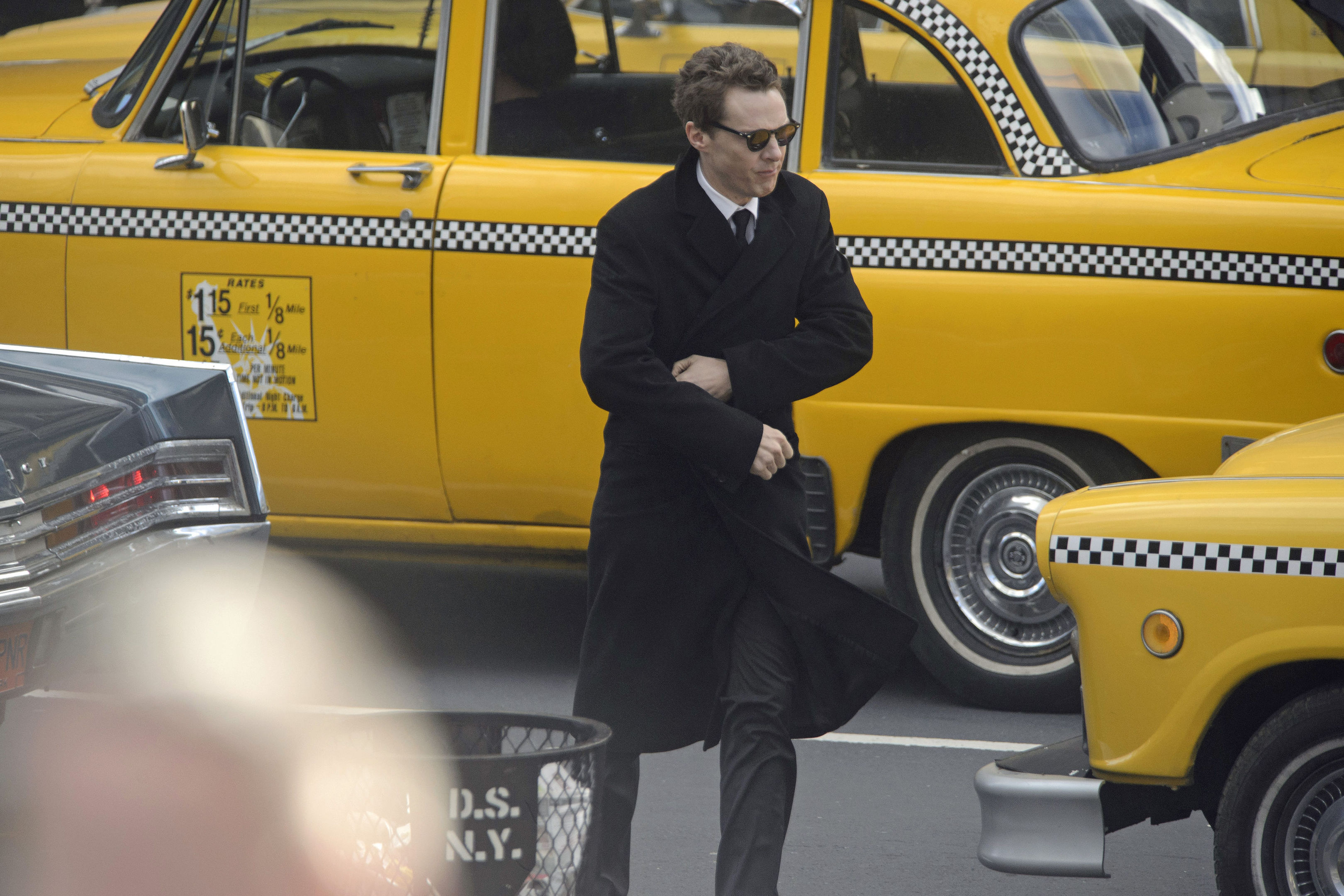 Actor Benedict Cumberbatch shooting scenes in Glasgow (John Linton/PA Wire)