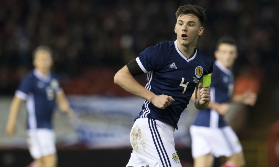 Kieran Tierney in action for Scotland (SNS Group / Craig Williamson)