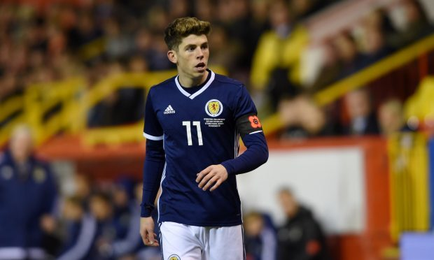 Ryan Christie in action for Scotland (Darrell Benns / DC Thomson)