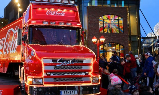 The promotional truck will visit Glasgow on Saturday and Sunday (PA)