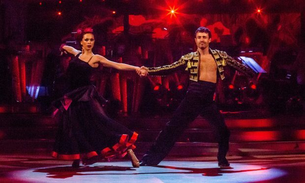 Joe McFadden and Katya Jones will perform a salsa for Strictly Come Dancing's Blackpool Week (Guy Levy/BBC)