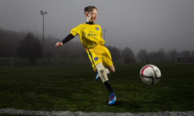 Harris Tinney is a talented footballer (Andrew Cawley / DC Thomson)