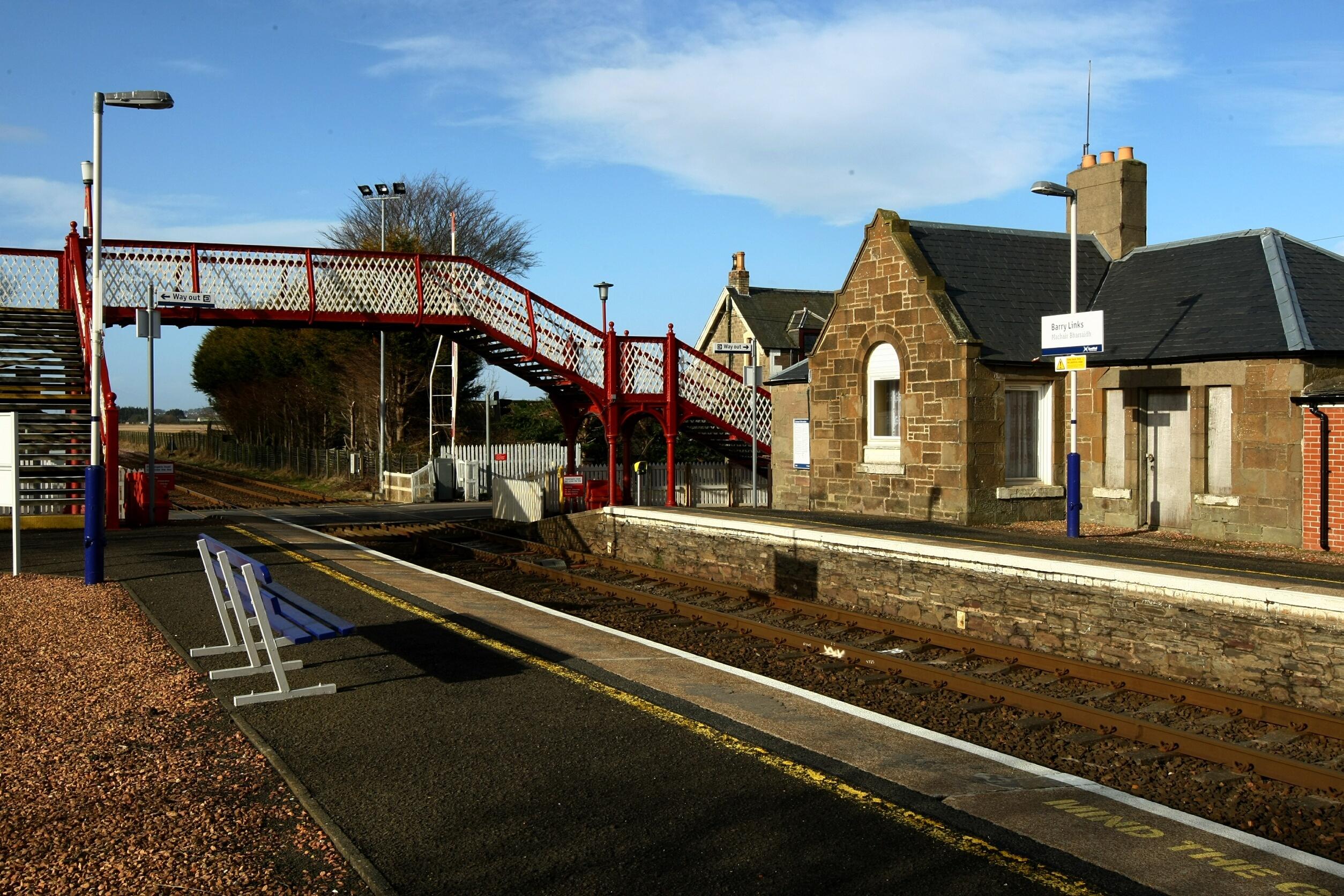 Barry Links station (Dougie Nicholson / DC Thomson)