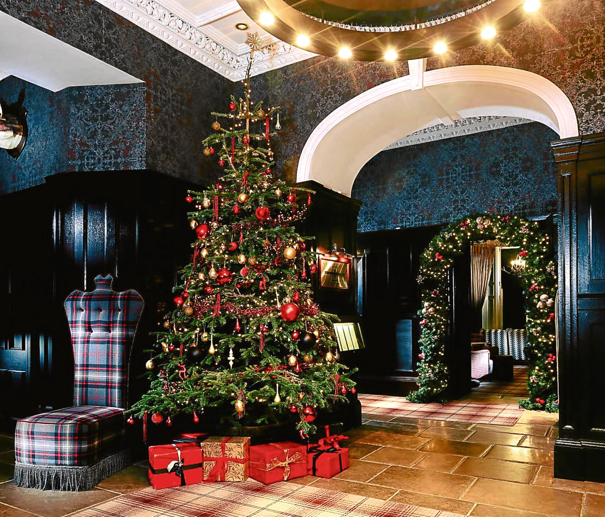 The Christmas tree in the reception of the Cameron House Hotel  (Facebook)