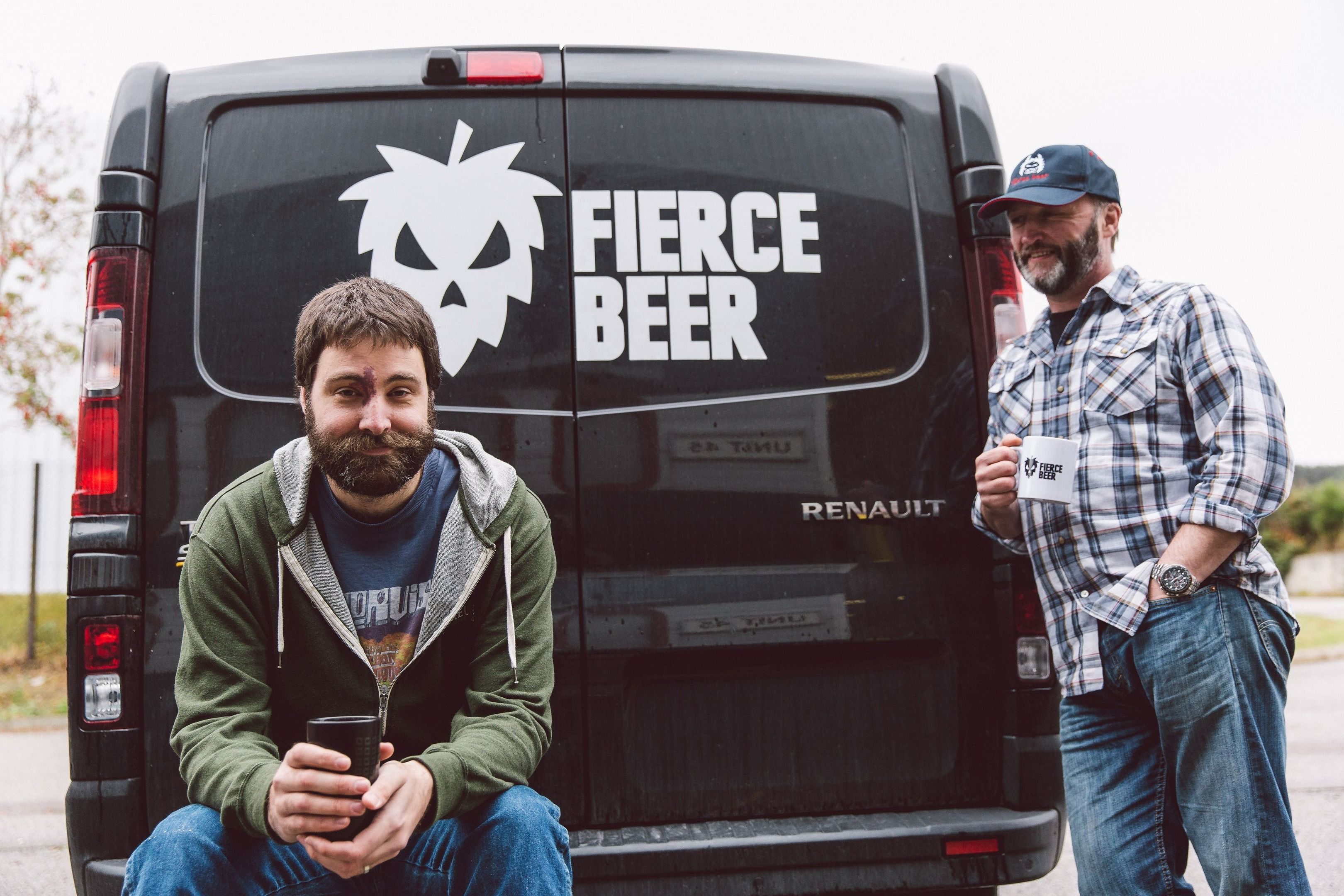 Dyce-based Fierce Beer's operations director Dave McHardy  (left) and managing director Dave Grant (Fierce Beer/Co-op/PA Wire)