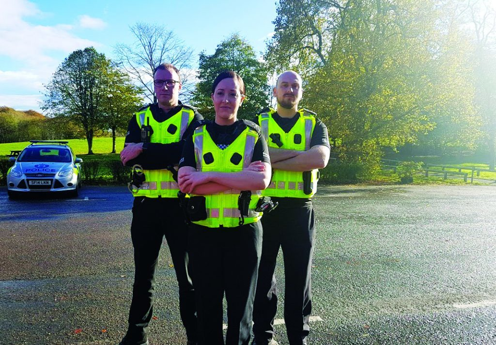 PC Andy Sawers, PC Carolyn Wright & PC Calum McDougal