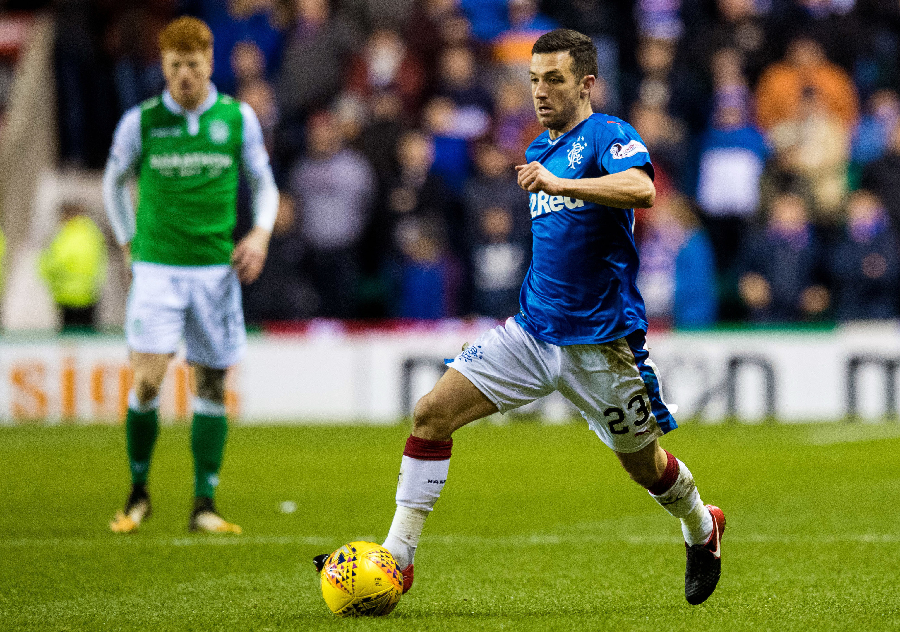 Jason Holt in action for Rangers (SNS)