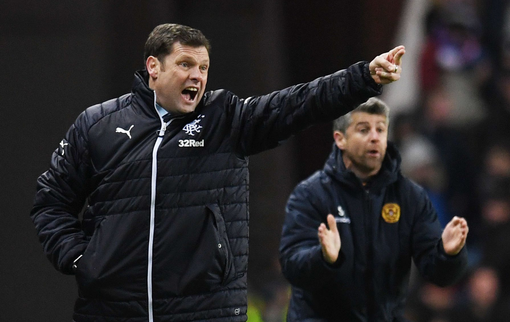 Rangers manager Graeme Murty on the touchline (SNS Group / Craig Williamson)