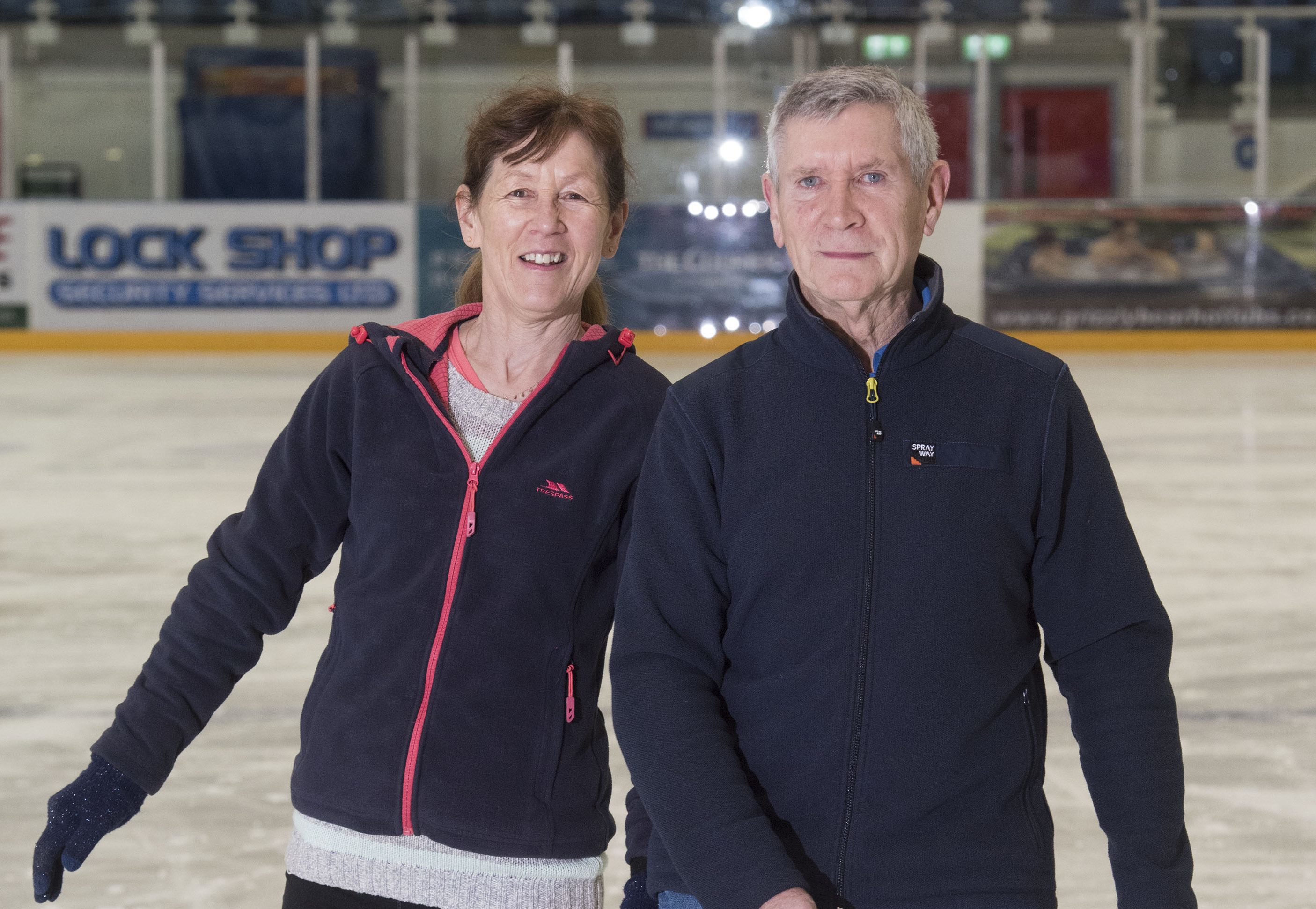 Learn to skate class members Will Rowbottom and Ann Reed (Alan Richardson/ Pix-AR.co.uk)