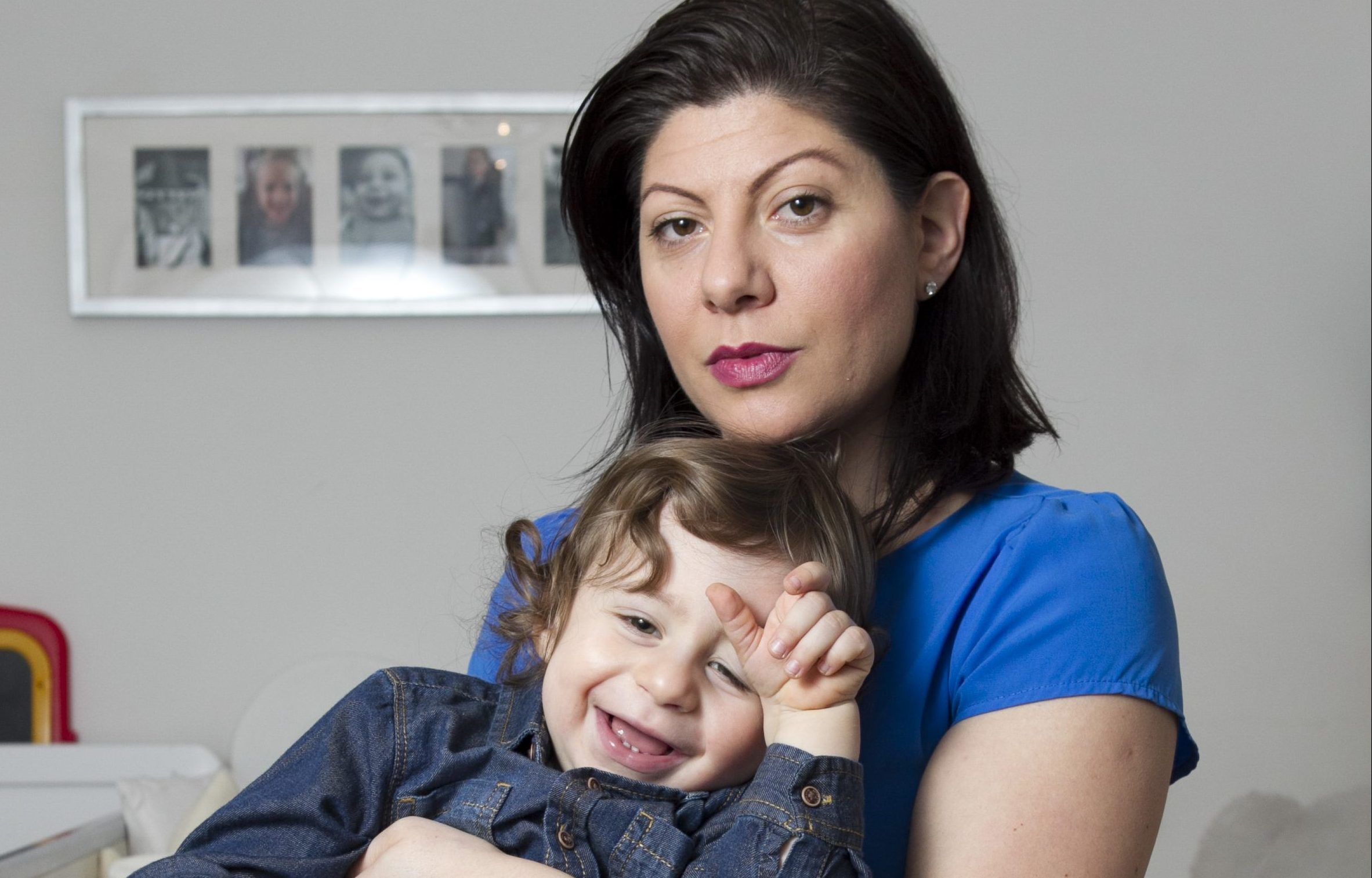 Maria Capasso and her toddler son, Diego (Andrew Cawley/DC Thomson)