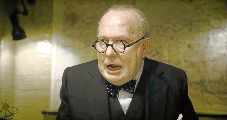 Gary Oldman as Winston Churchill in the film Darkest Hour