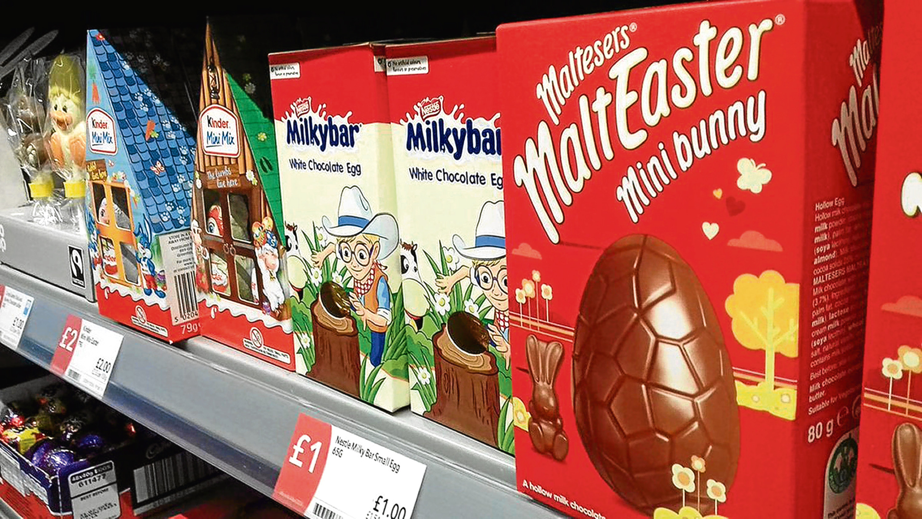 Easter Egg display in a Co-Op store in North Yorkshire (Lucy Lawson/PA Wire)